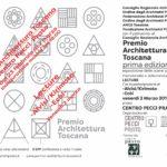 Mostra Premio Architettura Toscana 2017